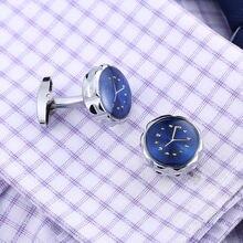 Новые мужские часы sytle запонки синяя рубашка манжеты кнопки