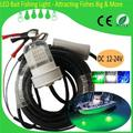 8pcs/lot Fishing Tackle Wholesale 30W Underwater LED Bait Lights DC 12V - 24V 6M Cable 360 + 120 Degree Cheap Fishing Equipments
