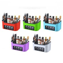 Fashion Kitchen Combination Set Multifunctional Kitchen Tool Plastic Shelf Knife Holder Seasoning Box Condiment Bottles Cans Set