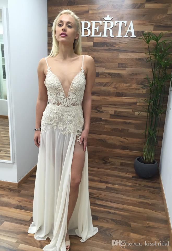 Boho 2016 Berta Long Beach Wedding Dresses With Sexy