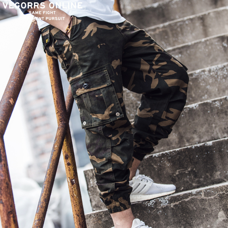 Cargo Pants New Original Tide Brand Japanese Street Casual Pants Retro Camouflage Tooling Mens Trousers Fashion Beam Closing Pencil Pants Distinctive For Its Traditional Properties