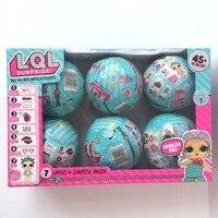 6pcs Set Series 1 LOL Surprise Doll Color Change Egg Ball Toys Dress Up Toy Action