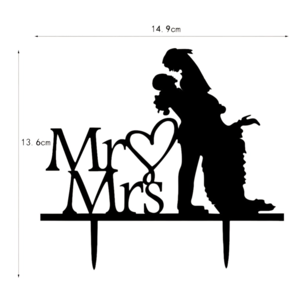 New Arrive Details About Family Bride Groom Silhouette Wedding Cake Topper Decoration For Birthday Party In DIY Decorations From Home Garden On
