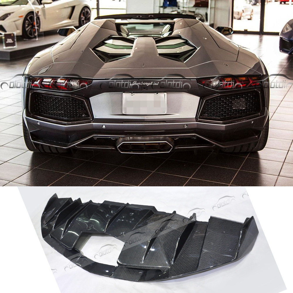 Auto Replacement Parts Oem Style Car Styling Carbon Fiber Rear Lip Bumper Back Diffuser For Lamborghini Lp570 Bumpers
