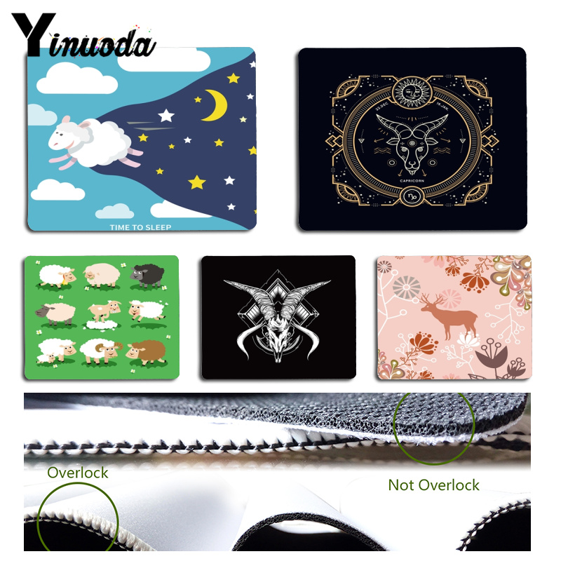 Yinuoda Sheep Time to Sleep mouse pad gamer play mats Size for 18x22x0.2cm Gaming Mousepads
