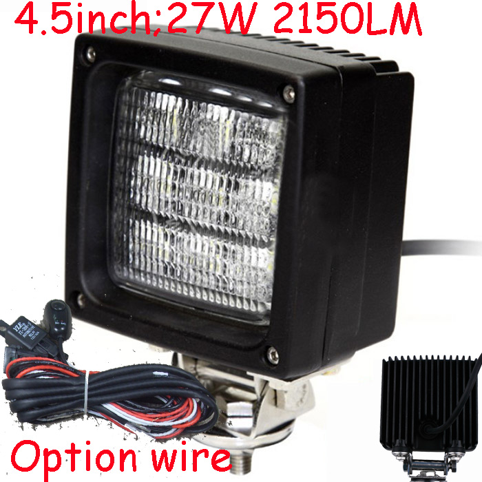Only 68USD/PCS,4.5 27W 2150LM 10~30V,6500K,LED working light;Free ship!Optional wire;motorcycle light,forklift,tractor light only 48usd pcs 5 5 27w 2400lm 10 30v 6500k led working light free ship optional wire motorcycle light forklift tractor light