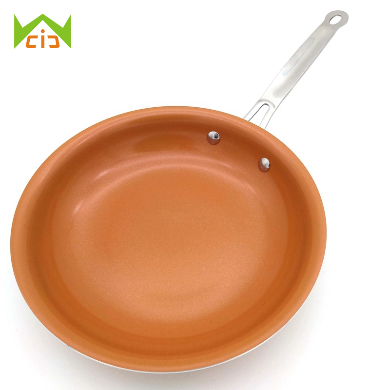WCIC Copper Pans Ceramic Coating Induction Cooking Oven Dishwasher Safe Induction Cooker Non-Stick Copper Frying Pan