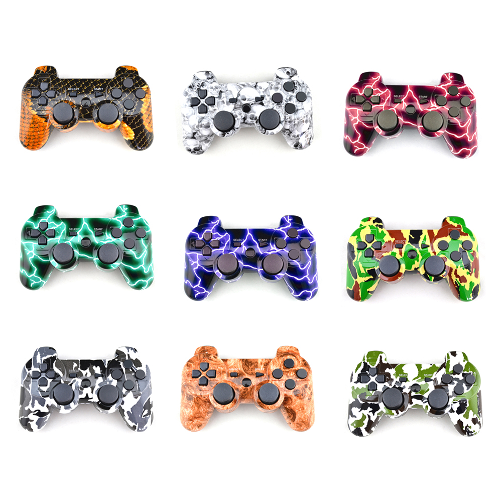 10PCS thunder wireless controlller gamepad bluetooth joystick joy-pay for DoubleSHOCK DUALSHOCK 3 SIXAXIS for PlayStation 3 PS3 sixaxis blueloong 2pcs red and blue color wireless bluetooth joystick gamepad for dualshock 3 playstation 3 ps3 controller