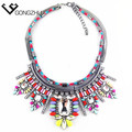 Hot Sell Fashion Necklace Shourouk Style Crystal Flower Statement Necklace Hot Women glamor Luxurious Necklaces & pendants
