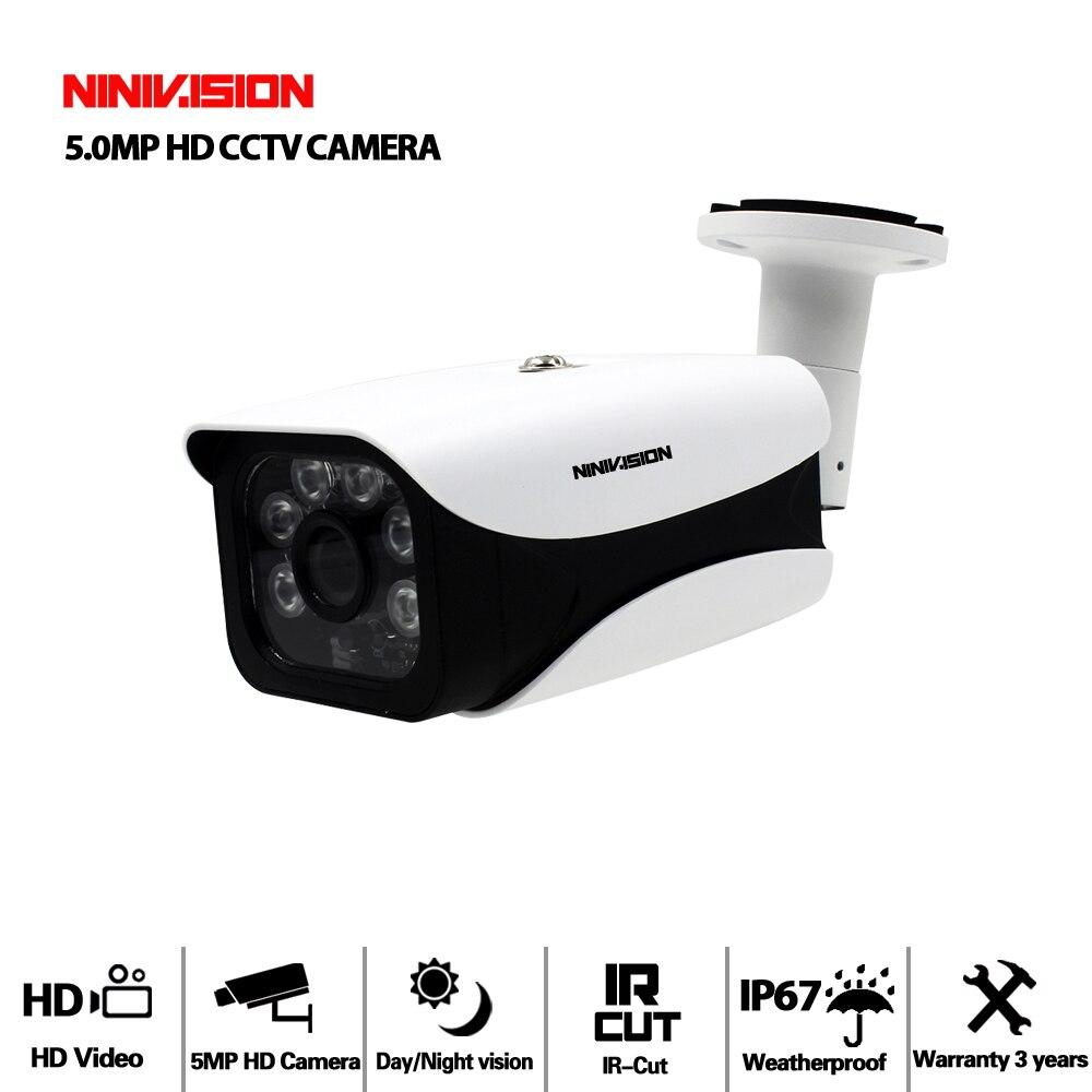5MP 4MP AHD Camera Security Video Surveillance Outdoor Camera Weatherproof HD CCTV Camera 6*Array Light 40-50M Night Vision