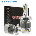 Hi Lo Beam 72W 12V 24V 7600LM LED 6000K H4 HB2 9003 Car Headlight Bulb Kits with COB led chip lights lamp bulb