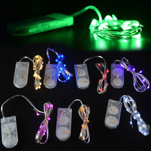1M Holiday Lighting String Fairy Light 10 LED Battery Operated Xmas Lights Party Wedding Lamp CN