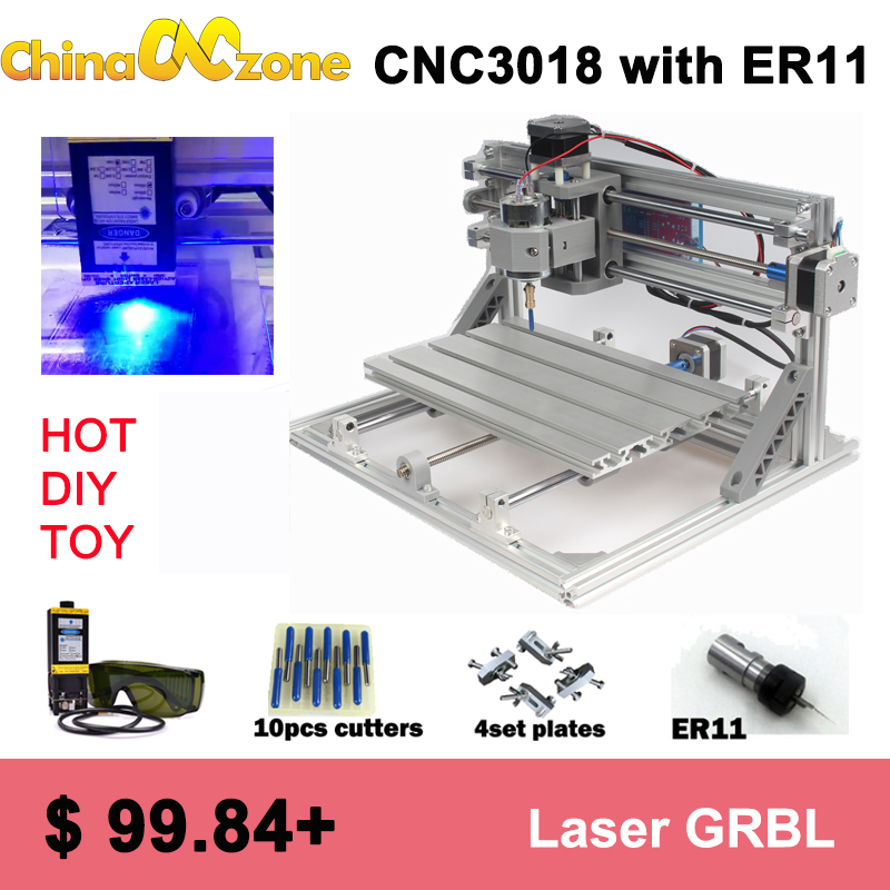 CNC3018 Laser ER11 mini CNC 3018 Router Parts grbl control diy cnc machine 3 axis Laser