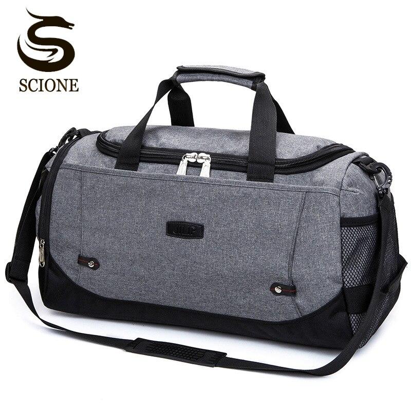 Scione Nylon Reisetasche Große Kapazität Männer Hand Gepäck Reise Duffle Taschen Nylon Wochenende Taschen Frauen Multifunktionale Reisetaschen