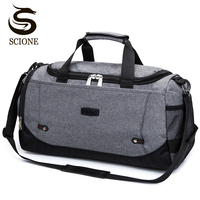 Scione Nylon Travel Bag Large Capacity Men Hand Luggage Travel Duffle Bags Nylon Weekend Bags Women