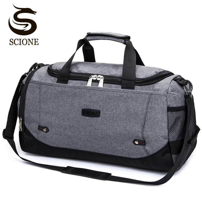 Scione Nylon Travel Bag Large Capacity Men Hand Luggage Travel Duffle Bags Nylon Weekend Bags Women Multifunctional Travel Bags large capacity men hand luggage travel duffle bags canvas travel bags weekend shoulder bags multifunctional overnight duffel bag