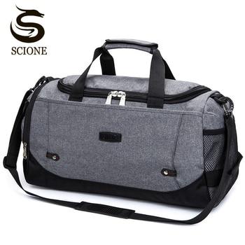 Scione Nylon Travel Bag Large Capacity Men Hand Luggage Travel Duffle Bags Nylon Weekend Bags Women Multifunctional Travel Bags