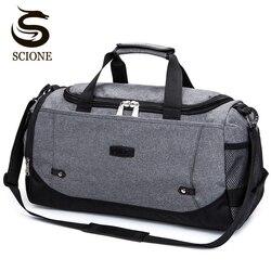 Scione saco de viagem de grande capacidade de bagagem de mão dos homens sacos de viagem duffle sacos de fim de semana de náilon