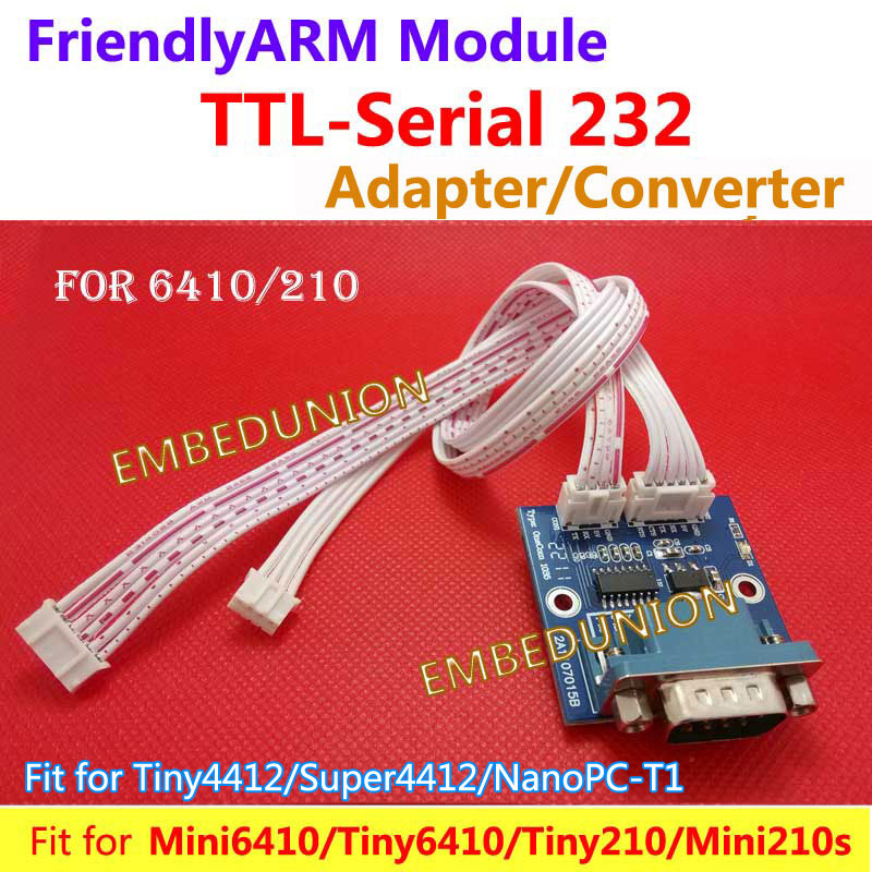 FriendlyARM MAX3232 TTL kuni RS 232 seeria DB9 adapteri muunduri pikendusplaat seadmele S3C6410 TINY6410 MINI6410 TINY210 MINI210S