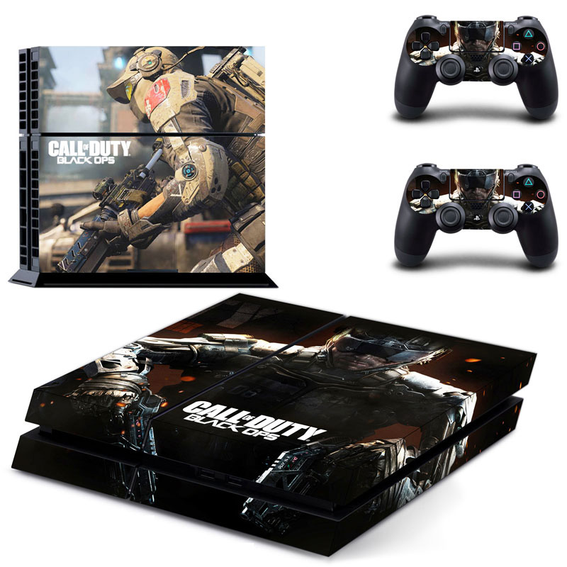 for PS4 Stickers Call of Duty Series Stickers for Sony Playstation 4 Console and Controller Cover Case