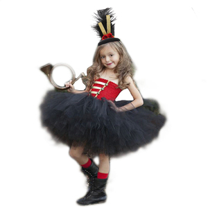 Red Black Birthday Party Dress for Girls Nutcracker Dress Kid Toy Soldier Halloween Christmas Costumes Dress Girl Winter Clothes(China)