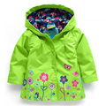 2-7Y Baby Girl Coat Clothes Autumn Trench Outwear Kids Fashion Coat With Hoodie Children's Clothing 5 Colors