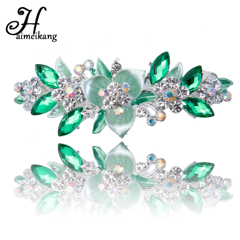 High-Quality Hair Claws Alloy Flower Hair Clips Rhinestone Crystal Hairpins Bridal Wedding Women Girls Hair Accessories haimeikang women girls bridal wedding crystal flower hairpins accessories headwear hair combs wholesale