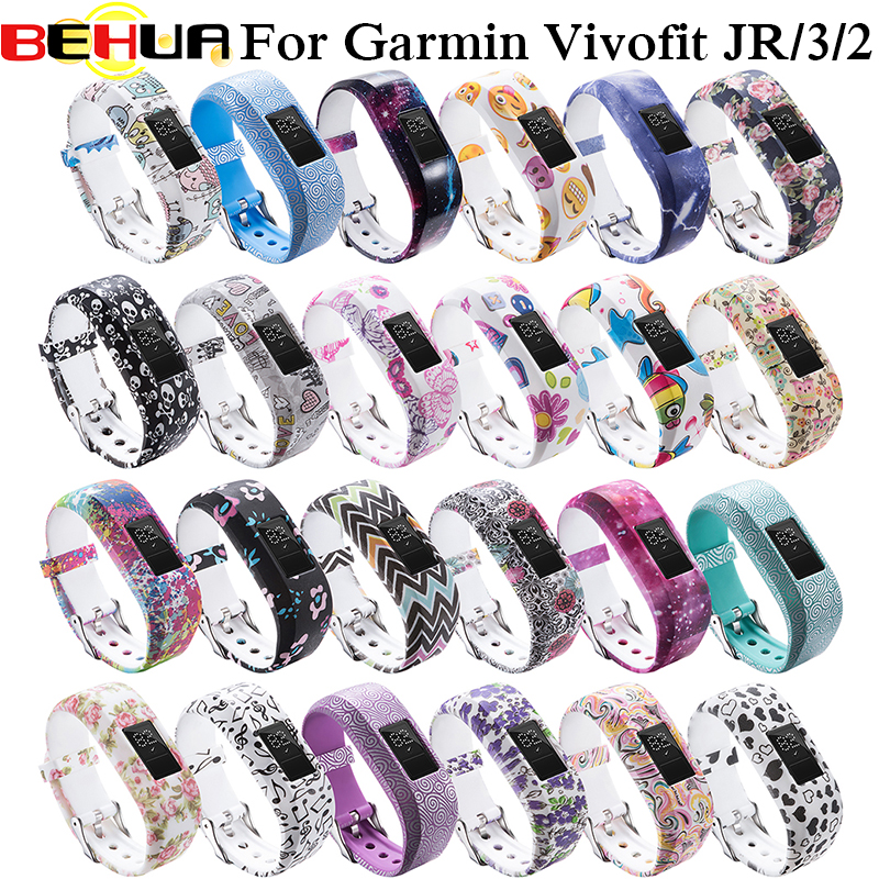 24 Colors Soft Wrist Bracelet Band Strap Holder For Garmin Vivofit JR/for Garmin VivoFit JR 2 JR2 Vivofit3 Activity Tracker Wear