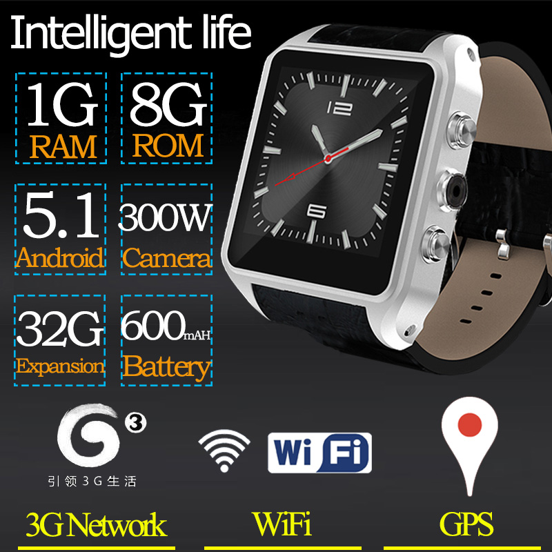 Hot X01 plus android 5.1 OS Smart watch 1.54inch 320*320 SmartWatch phone suppor