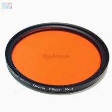 67 58 52mm étanche filtre rouge pour caméra Gopro Xiaomi Yi plongée sous marine photographie logement 52mm 58mm 67mm M67