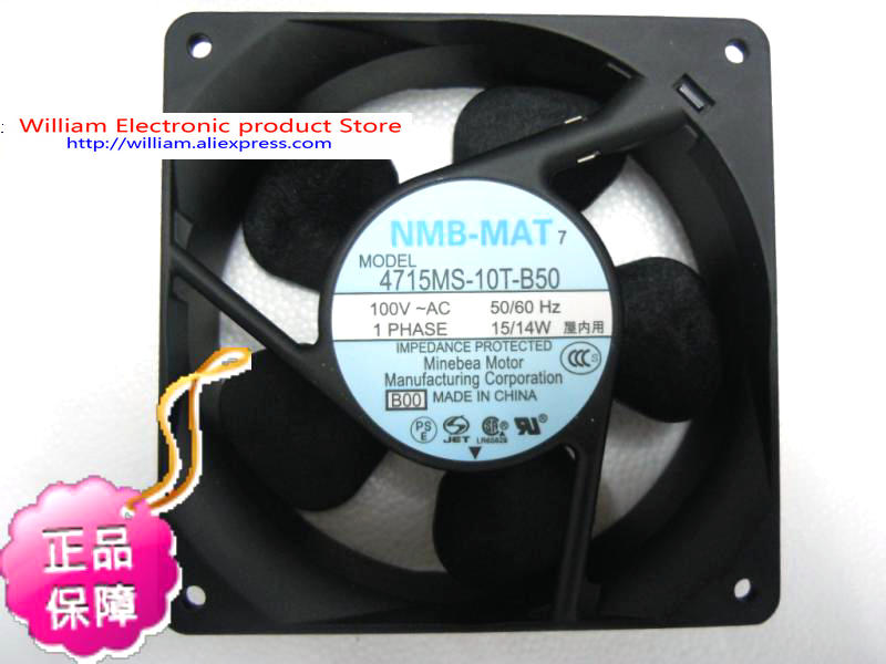 New Original NMB 4715MS-10T-B50 B00 AC100V 15/14W 120*38MM axial cooling fan free shipping for nmb 4715ms 10t b40 b00 ac 100v 14w 120x120x38mm server cooling square fan page 7
