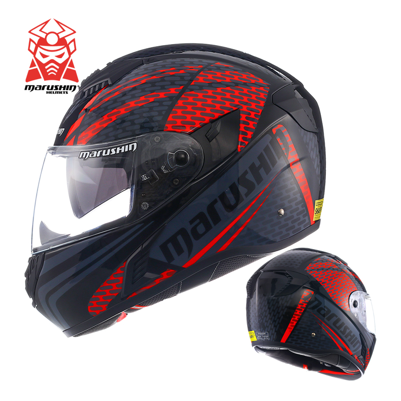 Authentic marushin Motorcycle Safety Helmet New L8 Full Helmet Double Lens Summer Uv Sports Car Motorcycle Helmet Moto Helmet цена