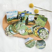 Meet Van Gogh – autocollants adhésifs décoratifs classiques, reproduisant le paquet de 45 pièces, décoration pour journal intime, DIY bricolage
