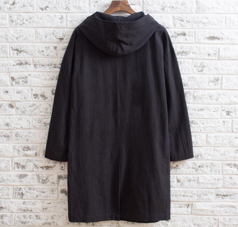 2019 De Coton Capuche Nouvelle Chaude Chemise Noir Longue Mode 5xl S Mince Hommes Casual Section Personnalité D'été La q60AFw