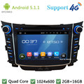 "Quad Core 7 ""5.1.1 HD 1024*600 2DIN Android DVD Player Do Carro de Rádio do PC USB BT FM DAB + 3G/4G WIFI GPS Mapa Para Hyundai I30 2011-2016"