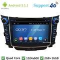 """Quad Core 7 """"5.1.1 HD 1024*600 2DIN Android DVD Player Do Carro de Rádio do PC USB BT FM DAB + 3G/4G WIFI GPS Mapa Para Hyundai I30 2011-2016"""