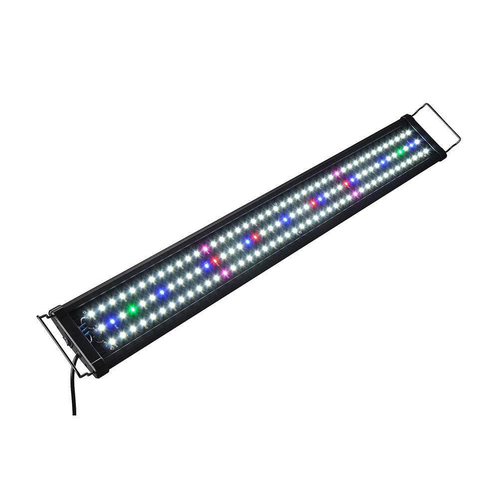 Imperméable à l'eau US Plug lumières LED d'aquarium poisson réservoir lumière Bar bleu 60/90/120CM Submersible sous-marine Clip lampe aquatique décor