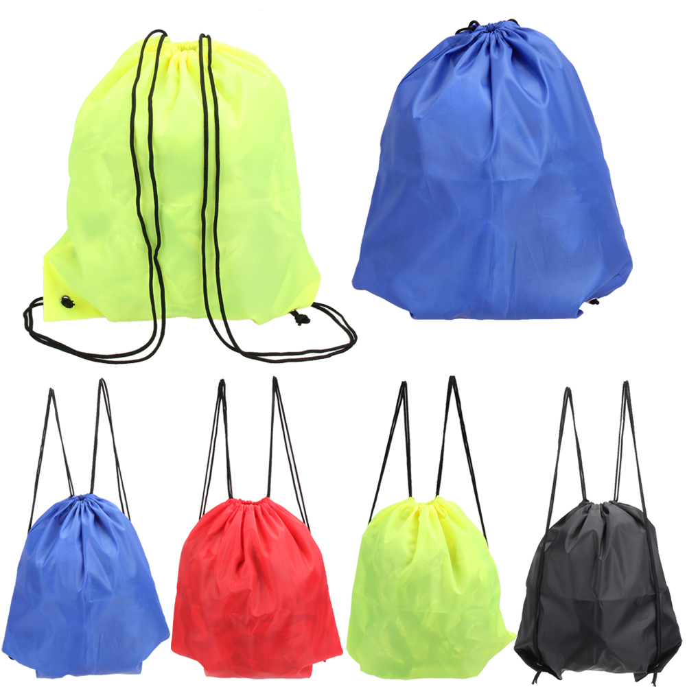 Gym Bags 43*33cm Waterproof Nylon Outdoor Bags Drawstring Backpack Baby Kids Toys Travel Shoes Laundry Lingerie Sports Bag Swim Backpack