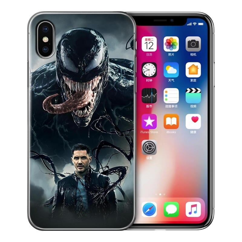 Hottest Venom Soft Silicone TPU phone Case Cover For iPhone 5 5S SE 6 6S 7 8 XS X Max Plus Back Coque funda cool Marvel hero