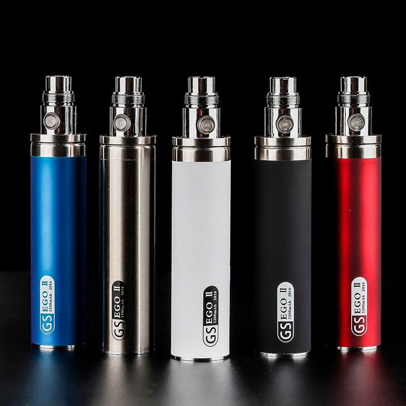 3 pièces/lot plus récent E Cigarette originale GS Ego III 3200mah EGO 3 batterie pour Cigarette électronique 510 fil batterie Multi couleurs