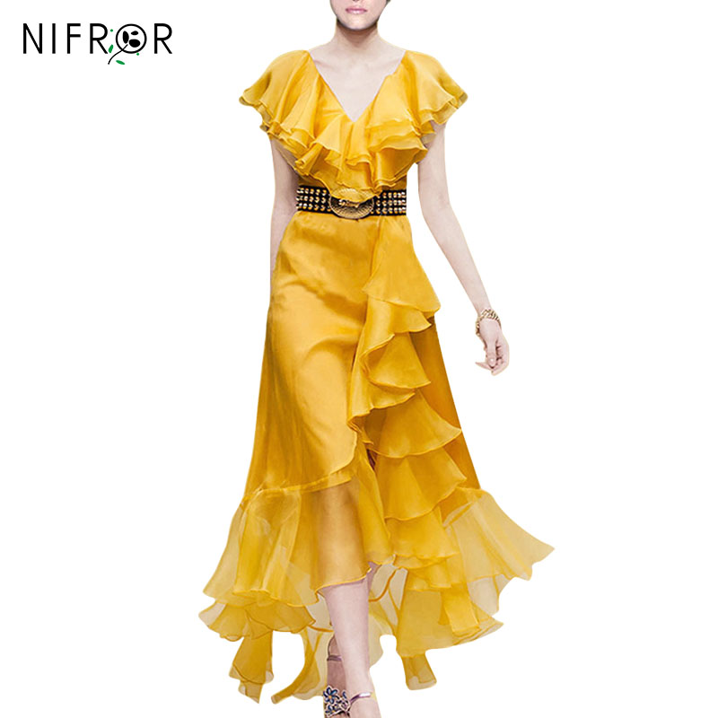 d1149d294d72 Φορέματα διαδρόμου 2018 Γυναικεία πολυτελή μανίκια πεταλούδας ...