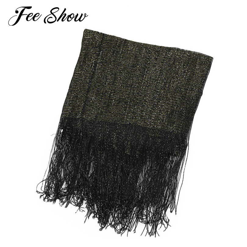 Fashion Women Sheer Glitter Sparkle Strong Fishnet Scarfs Soft Comfortable Shawl Wrap for Weddings Evening Party Formal Occasion