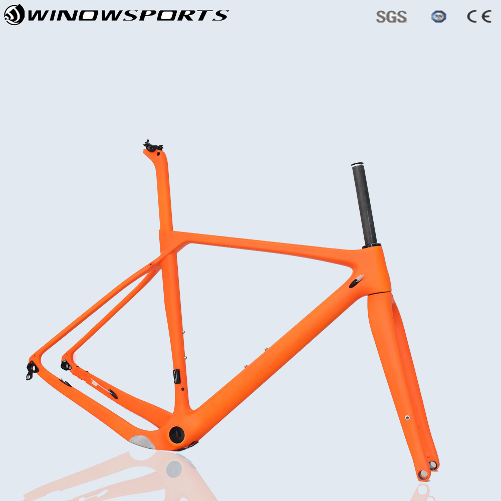 Gravel Bike Frame 700*40c Disc brake Full Carbon Gravel Bicycle Frame 142*12 size S/M/L/XL Cyclocross Road Bike Frameset futuro джинсовые брюки