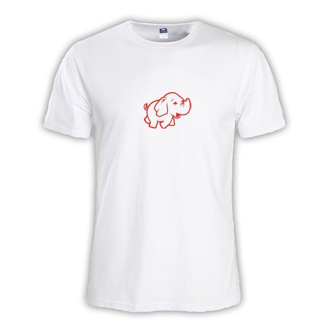 2018 летняя мода сплошной PHP слон мужские мальчиков футболка мастер NERD freak хакер pc gamer программиста систем Мужской Тройник Большие размеры