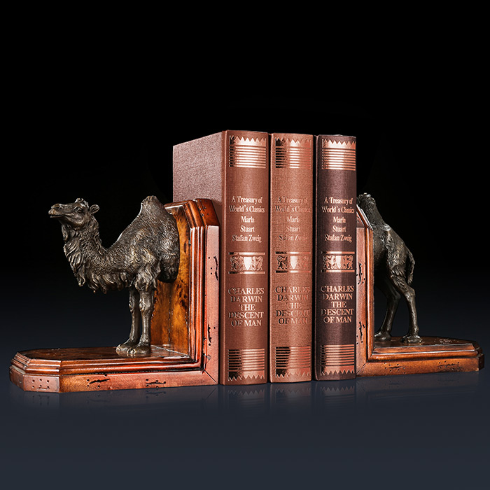 premium selection 12d09 72a37 US $1543.2 15% OFF Bronze sculptures camel Copper bookshelf collectible  book ends Study Room Decoration-in Statues & Sculptures from Home & Garden  on ...