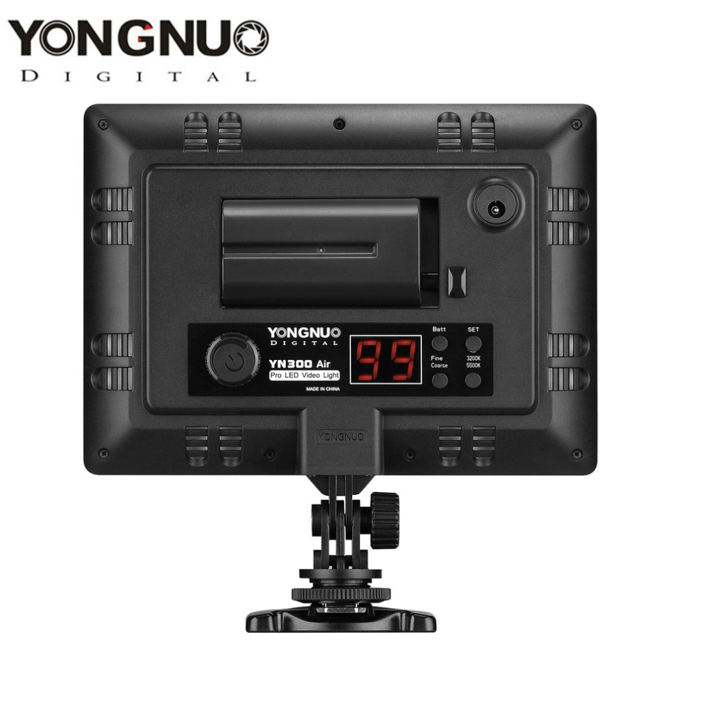 YN300 Air 3200k 5500k Pro LED Camera Video Light 2000LM 18W Ultra Thin 110 Degree Illumination Angle With SET Function