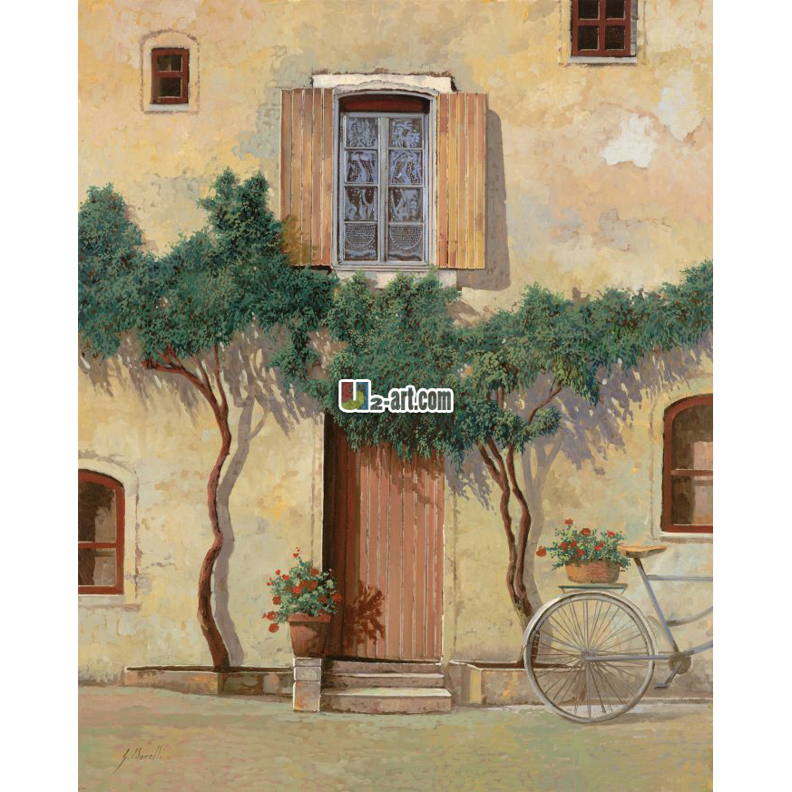 Landscape oil paintings mediterranean style beautiful for Beautiful house decoration