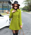 New fashion autumn and winter single breasted overcoat warm Slim solid with collars women turn-down collar outwear WWA19