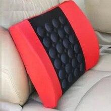 New Electric Lumbar Support Vibration Massage Cushion Red Car Care Lumbar Pad Cushion Massage