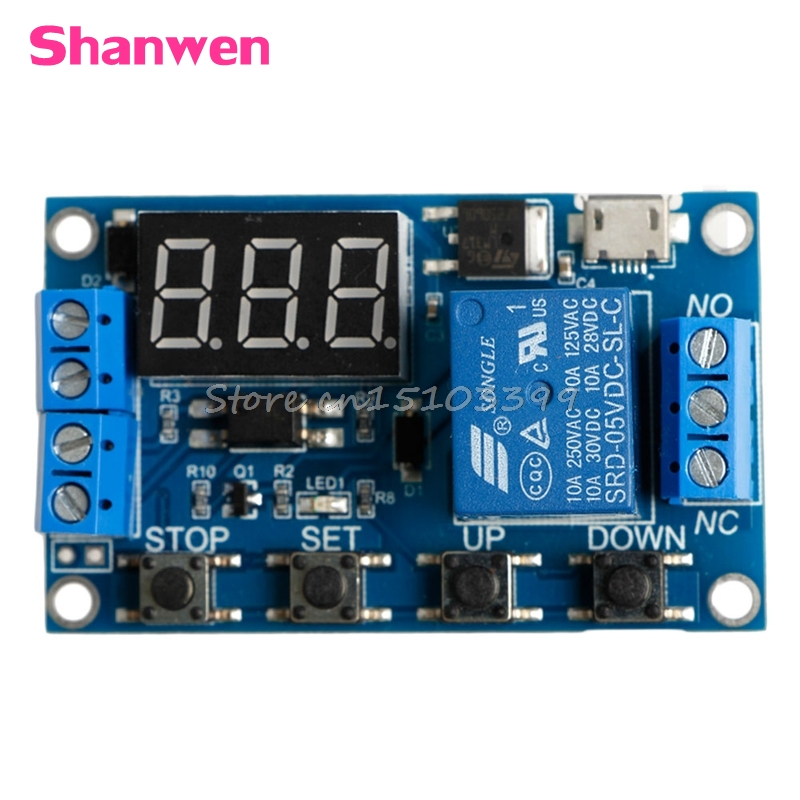 6-30V Relay Module Switch Trigger Time Delay Circuit Timer Cycle Adjustable G08 Drop ship dc 5 36v dual road mos tube module dc12v 24v trigger cycle timing delay switch circuit for controlling motor lights led etc